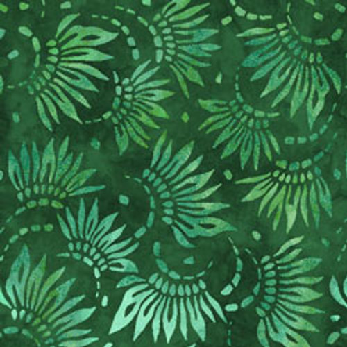 "Petals Green 108"" Cotton Wide Back Quilt Fabric"