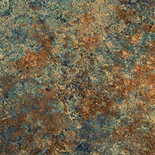 """Stonehenge Blue/Brown 108"""" Cotton Wide Back Quilt Fabric by Linda Ludovico"""