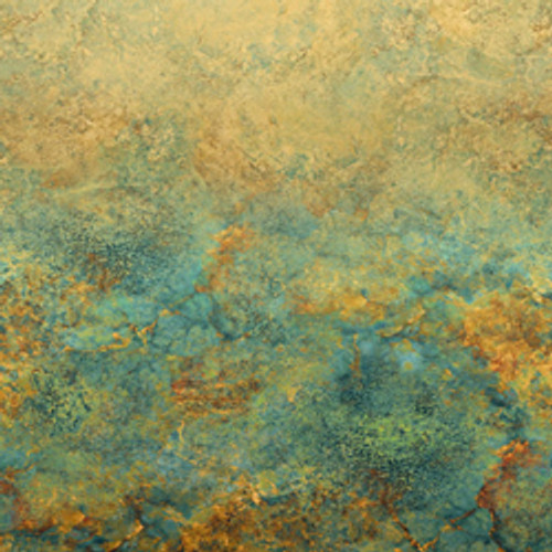 """Stonehenge Ombre Oxidized Copper 108"""" Cotton Wide Back Quilt Fabric by Linda Ludovico"""