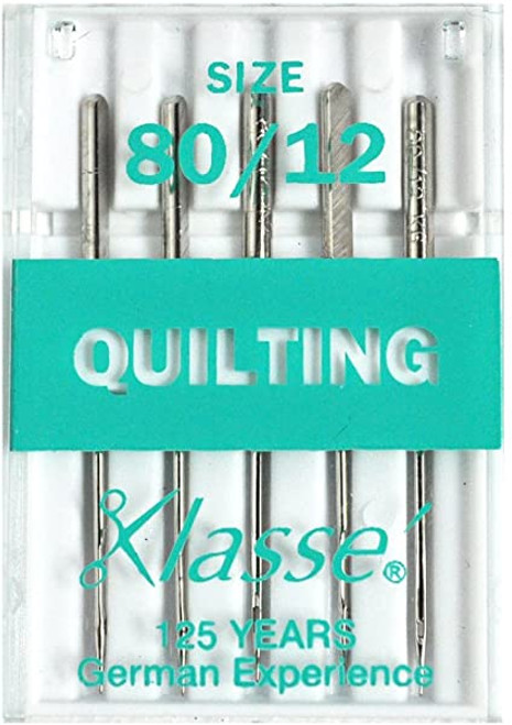 Klasse Machine Quilting Needles Size 12 for Domestic Machines