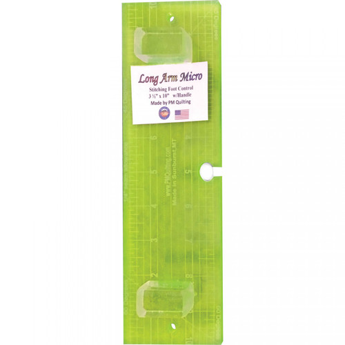 Micro Stitch Ruler - Longarm Fluorescent with Keyhole