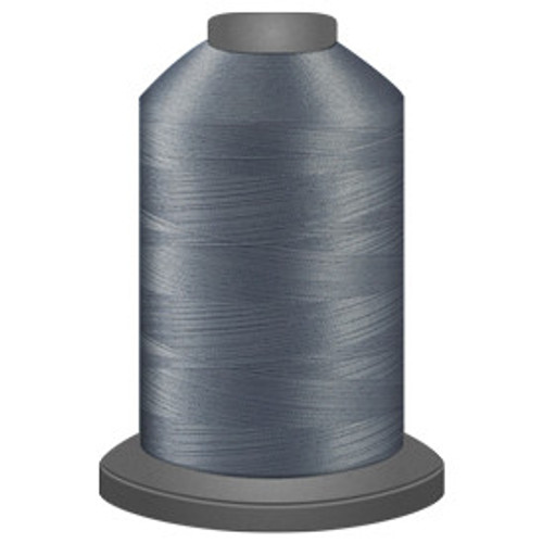 Glide - Silver -10536 - Cone - 5500 yds - Trilobal Poly No. 40 Embroidery & Machine Quilting Thread