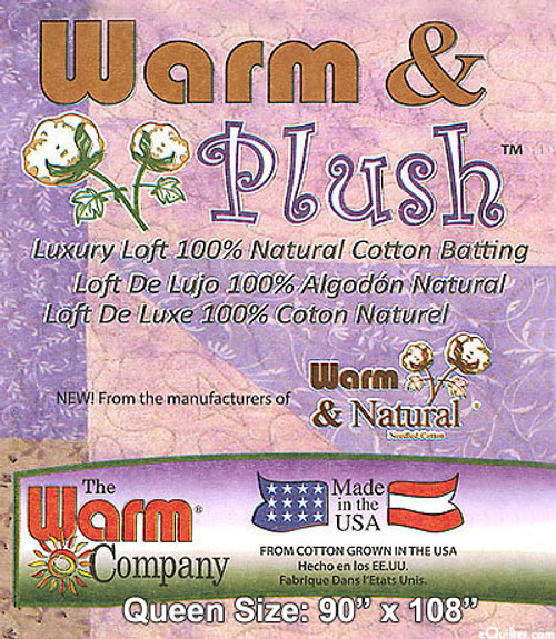 Warm & Plush - Natural 100% Cotton without Scrim Needlepunched Quilt Batting