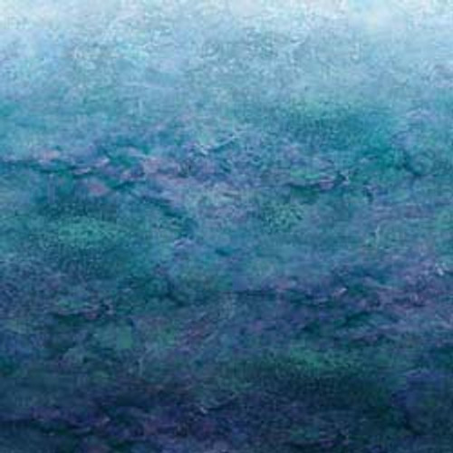 """Stonehenge Ombre Ocean 108"""" Cotton Wide Back Quilt Fabric by Linda Ludovico"""