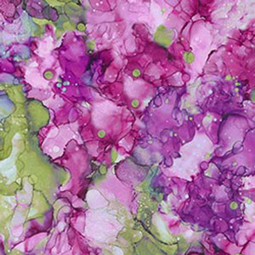 """Bliss, Bold & Bright Purple/Green 108"""" Cotton Wide Back Quilt Fabric"""