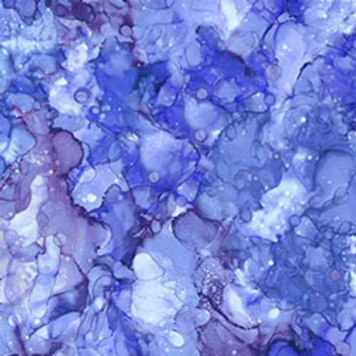 """Bliss, Bold & Bright Purple/Blue 108"""" Cotton Wide Back Quilt Fabric"""