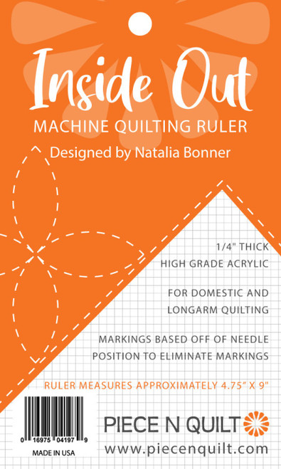 Inside Out Machine Quilting Ruler by Natalia Bonner