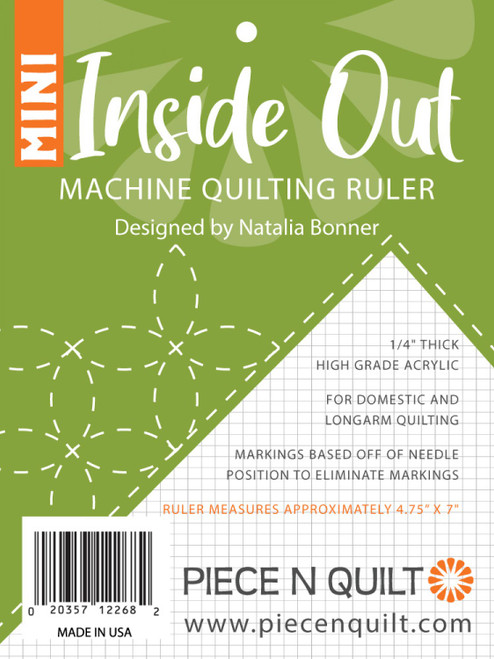Inside Out Mini Machine Quilting Ruler by Natalia Bonner