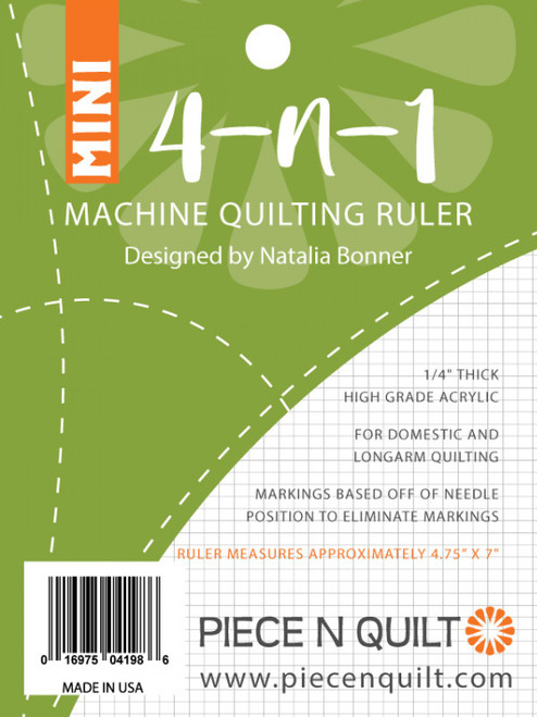 4-N-1 Mini Machine Quilting Ruler by Natalia Bonner