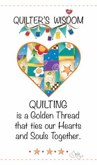 """""""Quilter's Wisdom"""" Heart Laminated Magnet"""