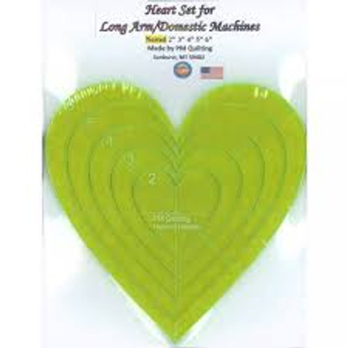 Longarm Heart Glow Edge Nested Ruler Set from PM Quilting