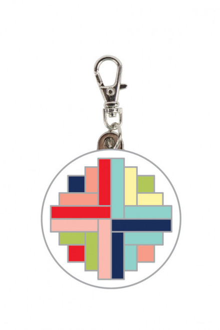 Good Times Enamel Zipper Pull Charm/Keychain - Designed by Bonnie Hunter