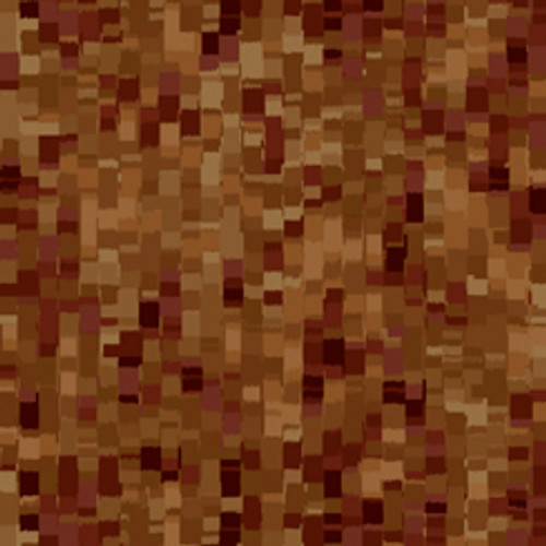 """Ombre Squares Brown 108"""" Cotton Wide Back Quilt Fabric"""