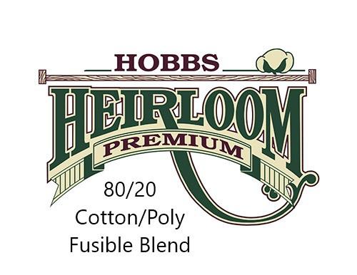 Hobbs Heirloom Premium 80/20 Fusible Cotton/Poly Blend Iron-On Batting