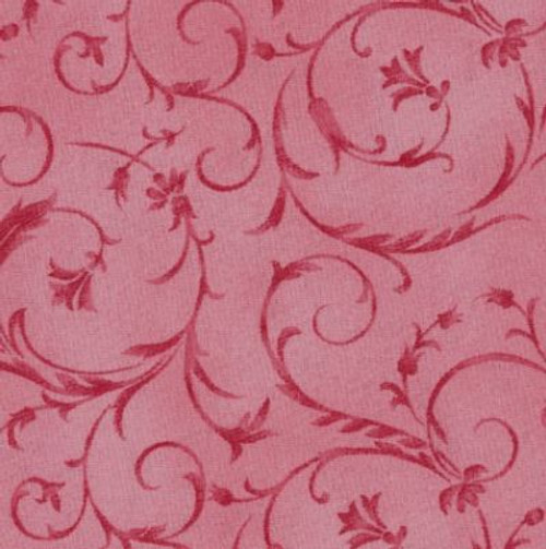 "Elegant Scroll Rosette 108"" Cotton Wide Back Quilt Fabric"
