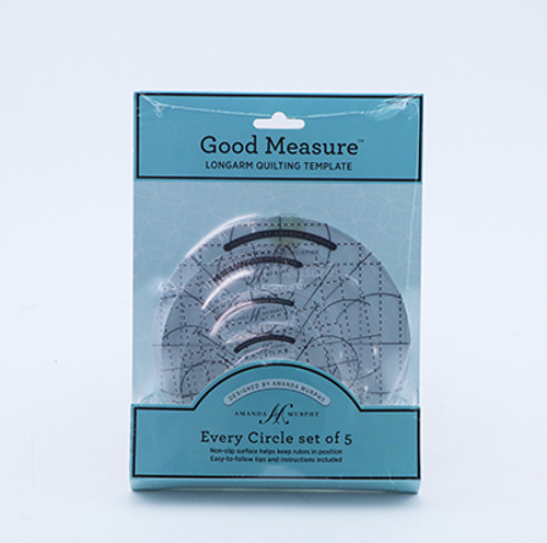 Every Circle Template 5pc from Good Measure by Amanda Murphy