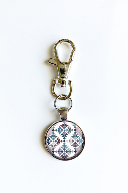 """Doves of Hope"" Scissor Fob with Swivel Clip Keychain"