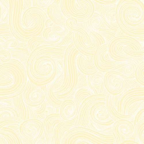 """Swirl Buttermilk - Just Color! - 108"""" Cotton Wide Back Quilt Fabric"""