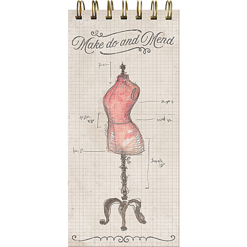"""Make Do & Mend"" Top Wire Graph Notepad"