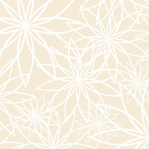 """Star Flower Cream - Beautiful Backing - 108"""" Cotton Wide Back Quilt Fabric"""