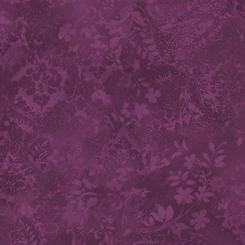 """Vintage Damask Plum- Beautiful Backing - 108"""" Cotton Wide Back Quilt Fabric"""