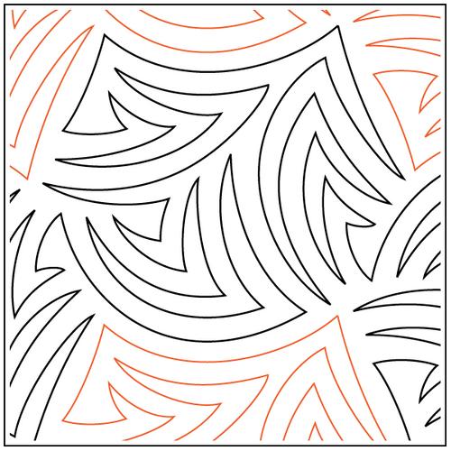"Contour 12.5"" Pantograph / E2E Quilting Design on Paper"