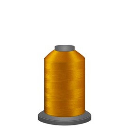 Glide - Bright Gold - 80137 - Spool - 1100 yds - Trilobal Poly No. 40 Embroidery & Quilting Thread