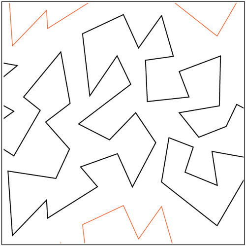 """Jagged Stipple 11"""" Pantograph / E2E Quilting Design on Paper"""