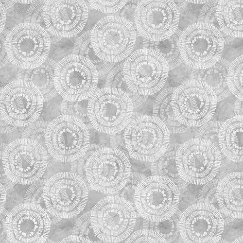 """Circle Burst Gray - 108"""" Cotton Wide Back Quilt Fabric"""