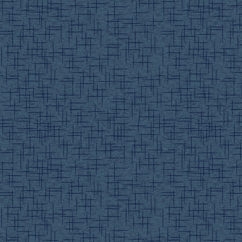 """Linen Texture Blue 108"""" Cotton Wide Back Quilt Fabric by KimberBell Designs"""