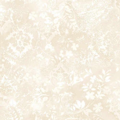 """Vintage Damask Cream - Beautiful Backing - 108"""" Cotton Wide Back Quilt Fabric"""