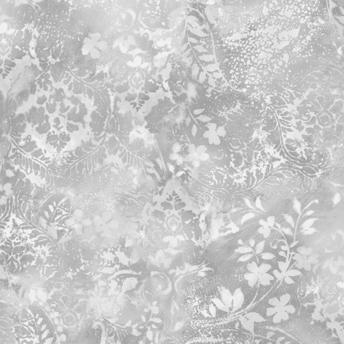 """Vintage Damask Gray - Beautiful Backing - 108"""" Cotton Wide Back Quilt Fabric"""