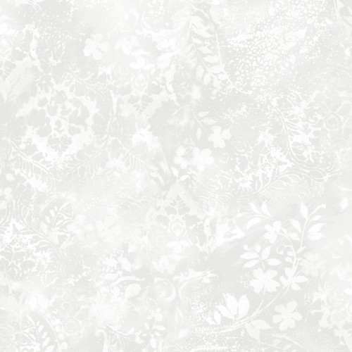 """Vintage Damask Light Gray - Beautiful Backing - 108"""" Cotton Wide Back Quilt Fabric"""