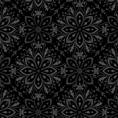 """Large Medallion - Tranquil QB - 108"""" Flannel Wide Back Quilt Fabric"""