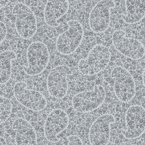 """Paisley Floral - Tranquil QB - 108"""" Flannel Wide Back Quilt Fabric"""