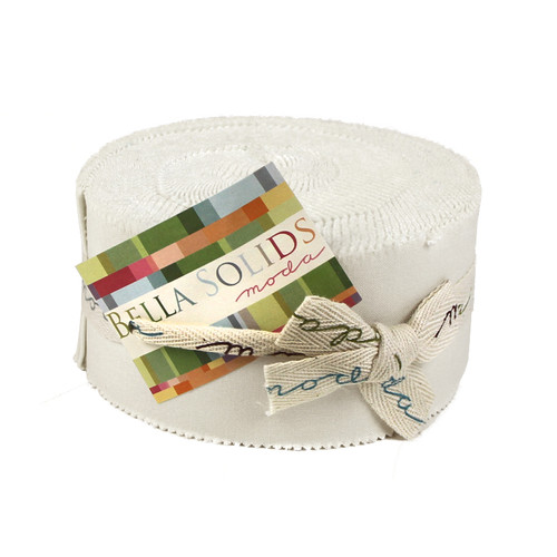 """White - 2.5"""" x 40"""" x 40 Strips - Jelly Roll - Designed by Bella Solids"""