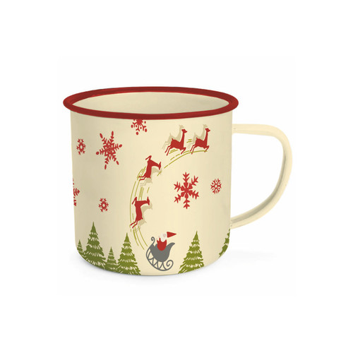 Christmas 20oz Enamelware Tin Mug - Designed by Stacy West from Riley Blake Designs