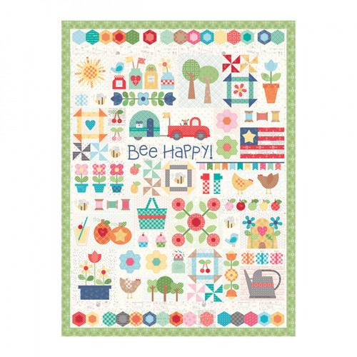 Bee Happy Quilt Puzzle - 1000 piece - Designed by Lori Holt from Riley Blake Designs