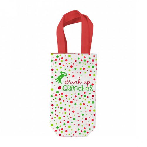 Drink Up Grinches Wine Gift Bag - Designed by Viv & Lou