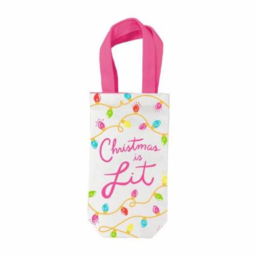 Christmas Is Lit Wine Gift Bag - Designed by Viv & Lou