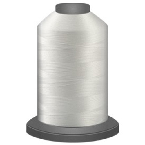 Glide - White - 10000 - Cone - 5000 yds - Trilobal Poly No. 40 Embroidery & Quilting Thread