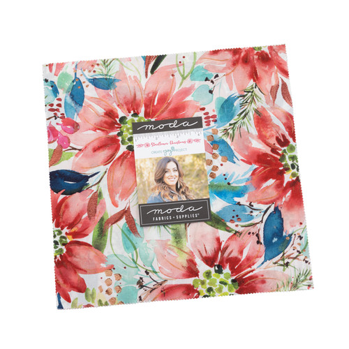 """Starflower Christmas - 10"""" x 10"""" x 42 Pieces Layer Cake - Designed by Laura Muir fromCreate Joy Project"""