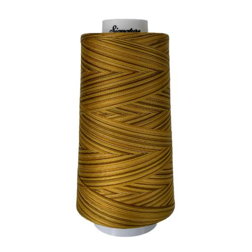 Signature40 - Antique Gold - M91 - Cone - 3000 Yds - 100% Variegated Cotton Quilting Thread
