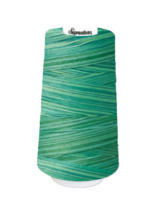 Signature40 - Aqua Waters - M83 - Cone - 3000 Yds - 100% Variegated Cotton Quilting Thread