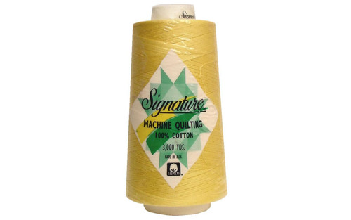 Signature40 - Buttercup - 630 - Cone - 3000 Yds - 100% Cotton Quilting Thread