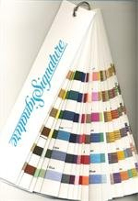 Signature40 Machine Quilting Thread - Solid & Variegated Sample - Fan Deck Color Card