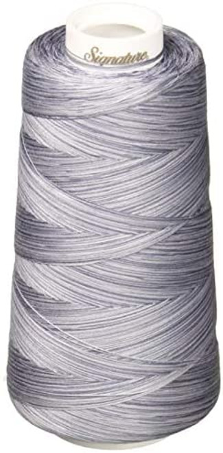 Signature40 - Grey Shades - M90 - Cone - 3000 Yds - 100% Variegated Cotton Quilting Thread