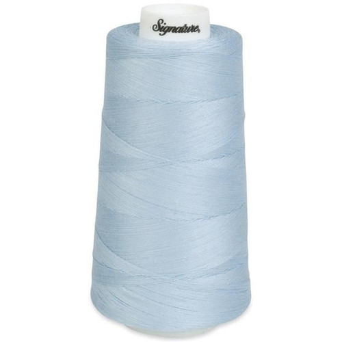 Signature40 - Iced Blue - 406 - Cone - 3000 Yds - 100% Cotton Quilting Thread