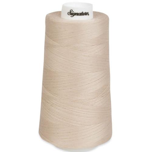 Signature40 - Ivory - 028 - Cone - 3000 Yds - 100% Cotton Quilting Thread