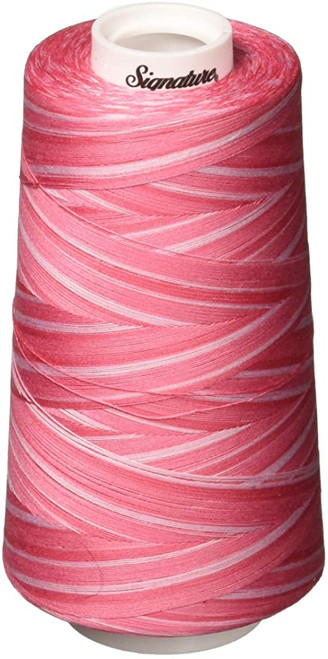 Signature40 - Pinky Pinks - M78 - Cone - 3000 Yds - 100% Variegated Cotton Quilting Thread